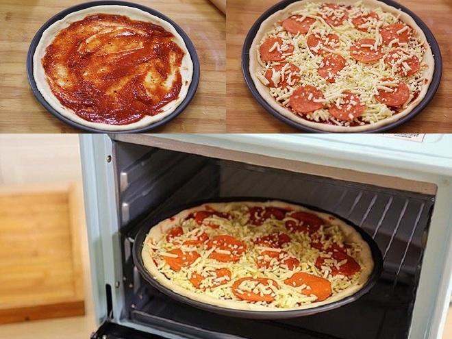 nướng bánh pizza
