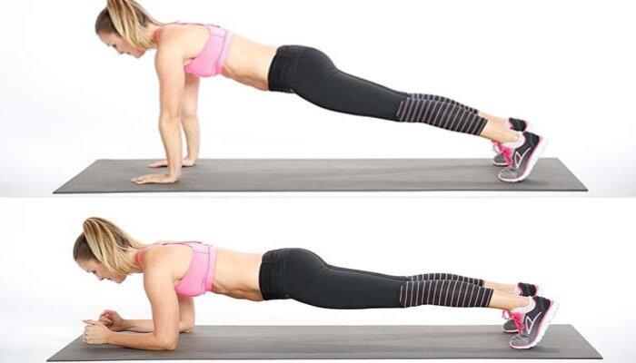 Tư thế Plank kết hợp nhảy bật hai chân